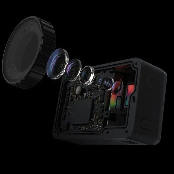 Osmo Action với ống kính có thiết kế quang học 3 thấu kính phi cầu