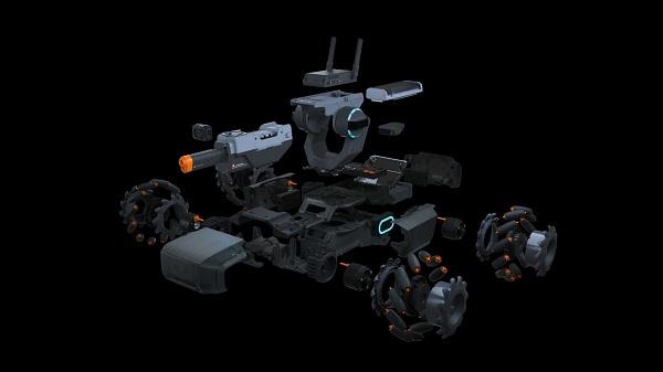 RoboMaster S1 thiết kế tháo lắp lại được