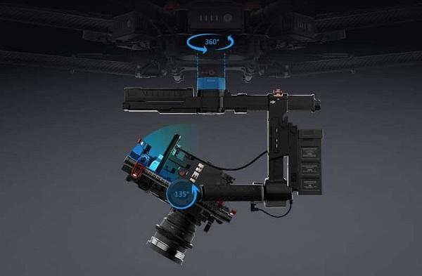 Gimbal Ronin MX có khả năng xoay 360 độ