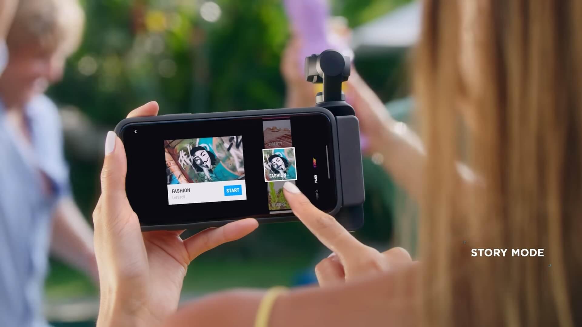 Chức năng chụp thông minh không cần kết nối app DJI Mimo