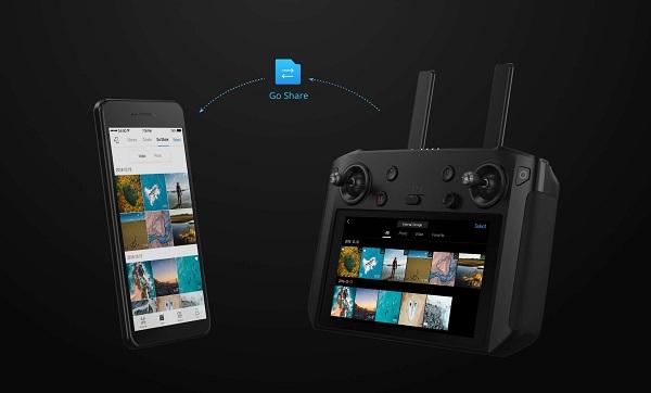 Tính năng DJI Go Share trên bộ điều khiển DJI Smart Controller