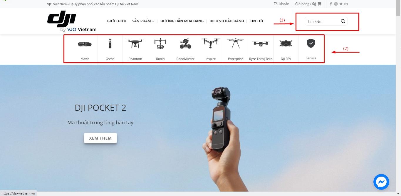 Hướng dẫn mua hàng - Tìm kiếm sản phẩm
