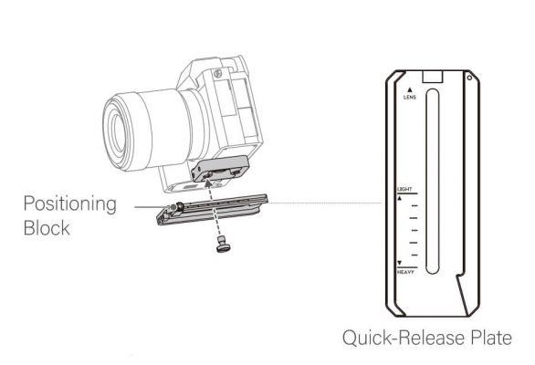 Thiết lập máy ảnh cho gimbal