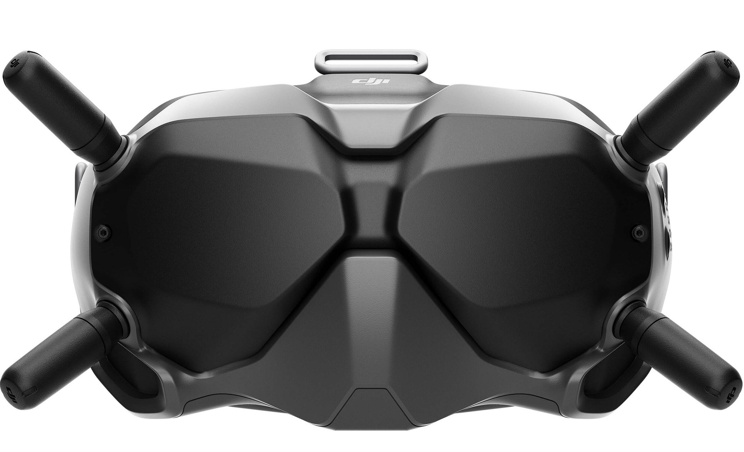 Thiết kế kính DJI FPV Goggles V2 với 4 ăng-ten nhận tín hiệu không dây ở 2.4GHz hoặc 5.8 GHz