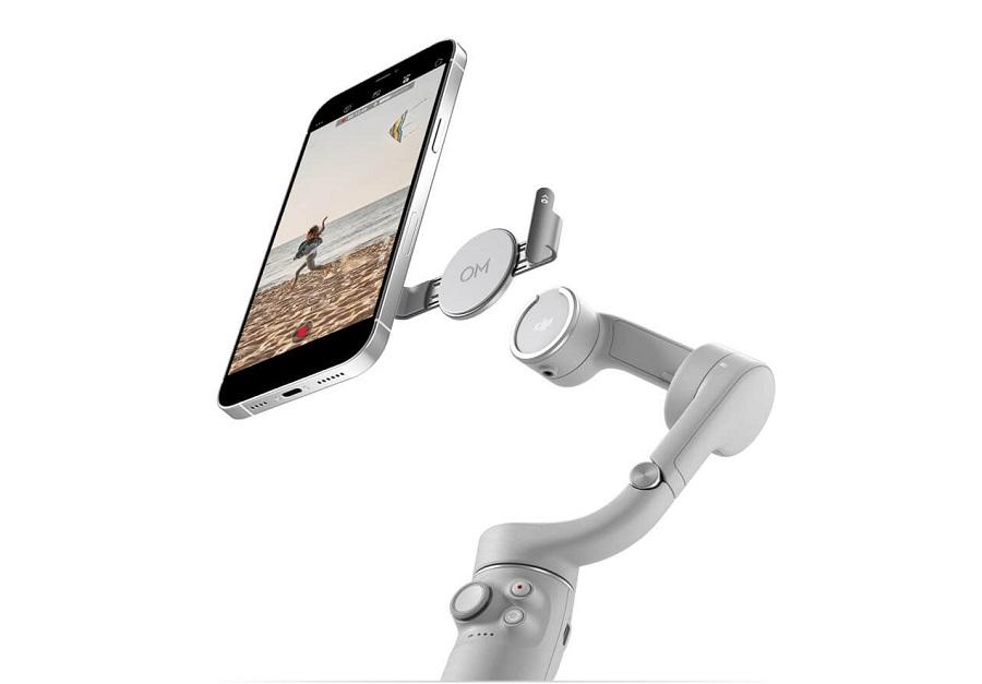 DJI OM 5 với thiết kế từ tính giúp tháo lắp điện thoại khỏi gimbal linh hoạt