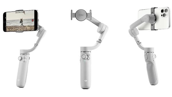 Gimbal sử dụng kẹp từ tính thông minh kết nối với điện thoại